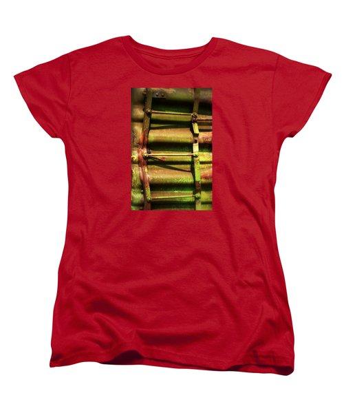 Green Ladder Women's T-Shirt (Standard Cut) by Newel Hunter