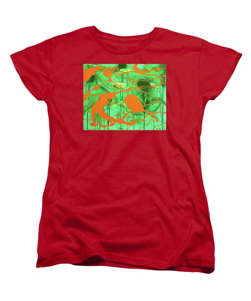 Green Spill Women's T-Shirt (Standard Cut) by Thomas Blood