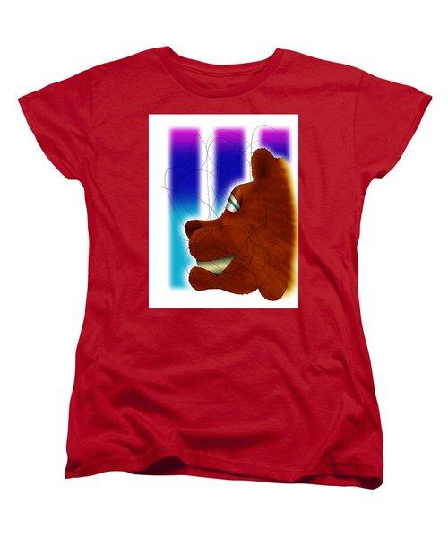 Grin And Bear It Women's T-Shirt (Standard Cut) by Ismael Cavazos