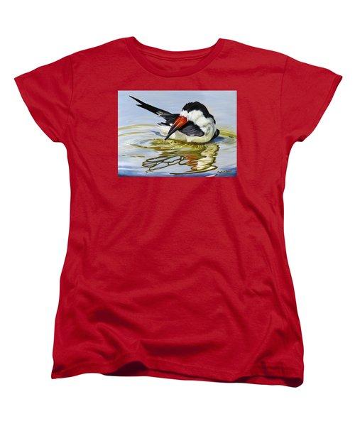 Gulf Coast Black Skimmer Women's T-Shirt (Standard Cut) by Phyllis Beiser