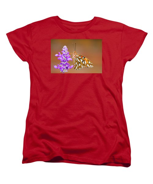 Gulf Fritillary Women's T-Shirt (Standard Cut) by Shelley Neff