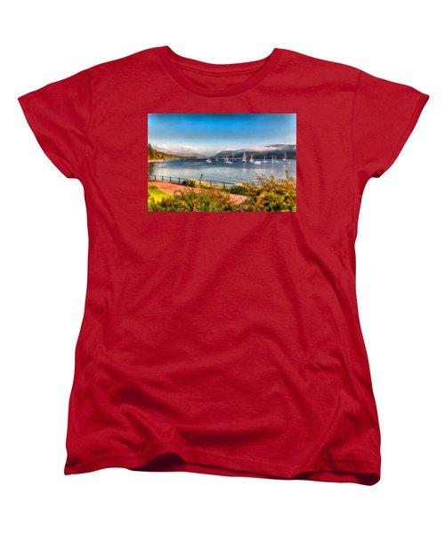 Women's T-Shirt (Standard Cut) featuring the photograph Gulf Of  Ullapool      by Sergey Simanovsky