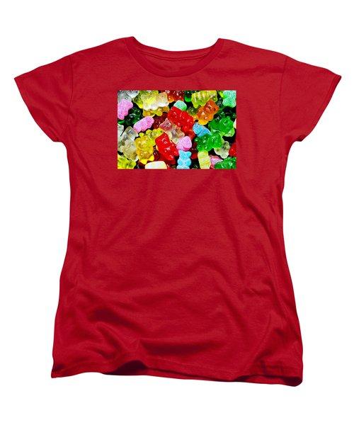 Women's T-Shirt (Standard Cut) featuring the photograph Gummy Bears by Vivian Krug Cotton