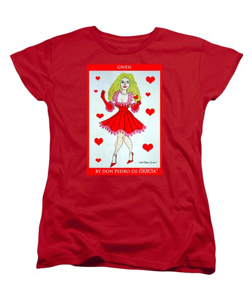Women's T-Shirt (Standard Cut) featuring the painting Gwen by Don Pedro De Gracia