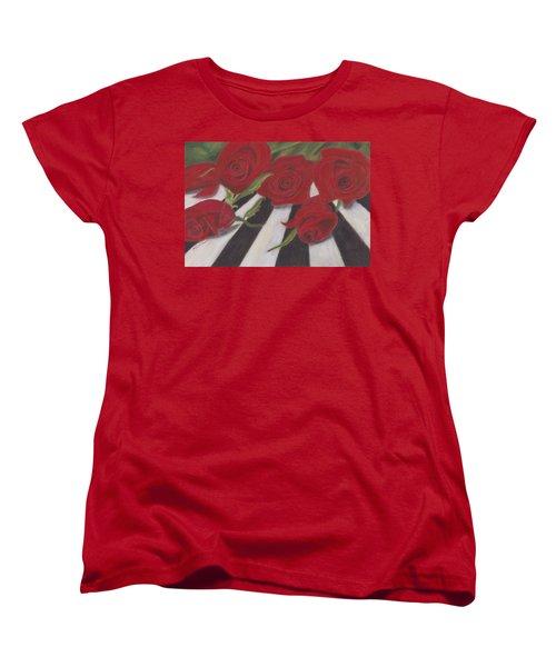 Women's T-Shirt (Standard Cut) featuring the painting Half Dozen Red by Arlene Crafton