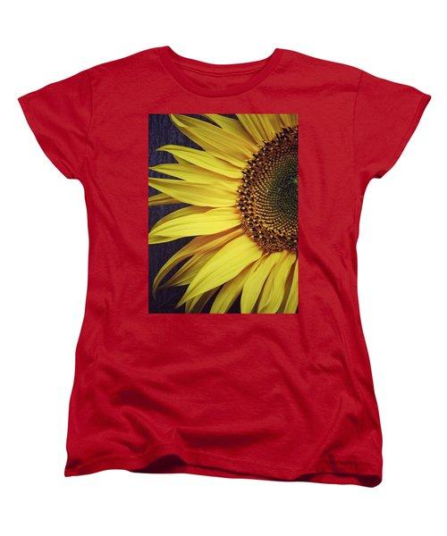 Half Yellow Women's T-Shirt (Standard Cut) by Karen Stahlros