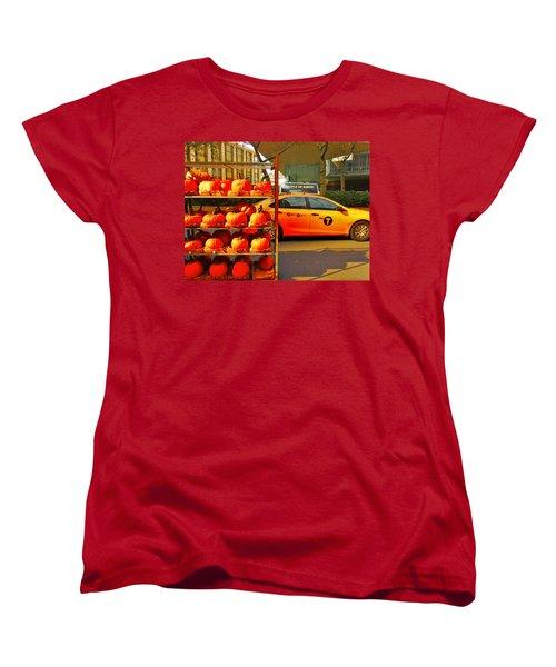 Halloween In New York  Women's T-Shirt (Standard Cut) by Funkpix Photo Hunter