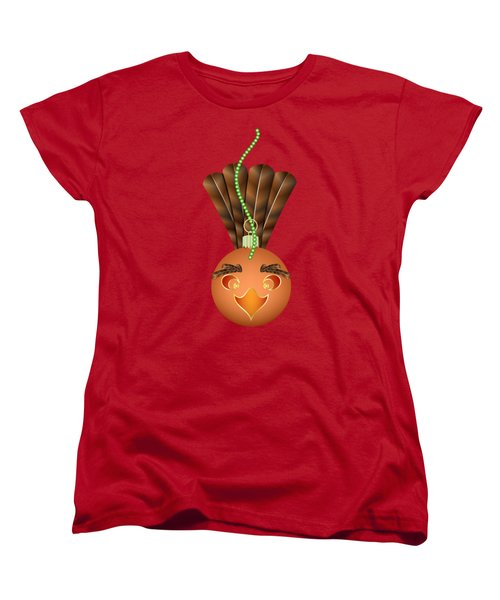 Women's T-Shirt (Standard Cut) featuring the digital art Hallowgivingmas Turkey Ornament Holiday Humor by MM Anderson