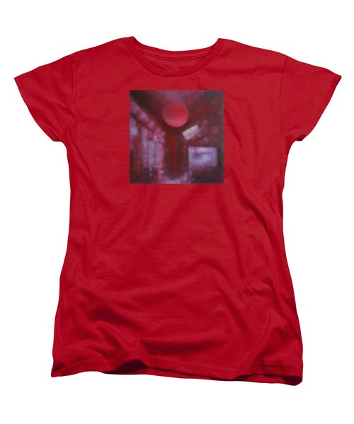 Women's T-Shirt (Standard Cut) featuring the painting Happiness Is Love... by Min Zou