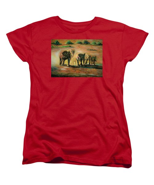 Happy Family Women's T-Shirt (Standard Cut) by Khalid Saeed