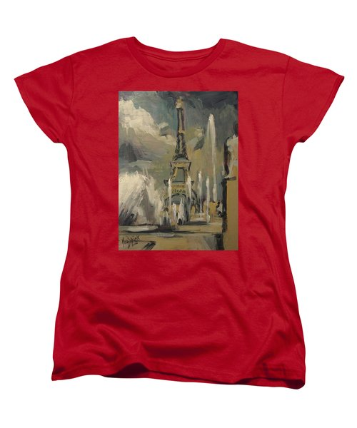 Happy Fountains At Trocadero Women's T-Shirt (Standard Fit)