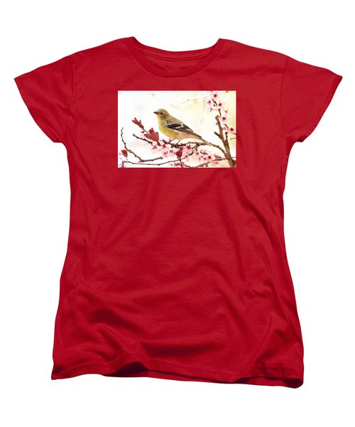 Happy Goldfinch Women's T-Shirt (Standard Cut) by Trina Ansel