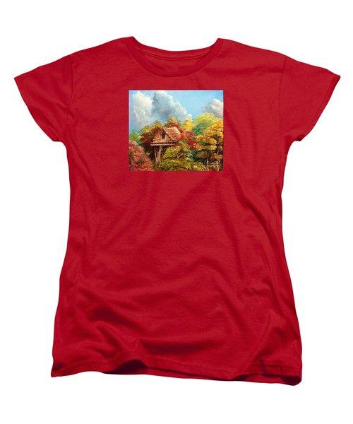Women's T-Shirt (Standard Cut) featuring the painting Hariet by Jason Sentuf
