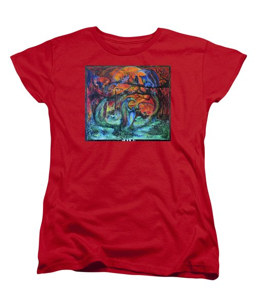 Harvesters Of The Autumnal Swamp Women's T-Shirt (Standard Cut) by Christophe Ennis