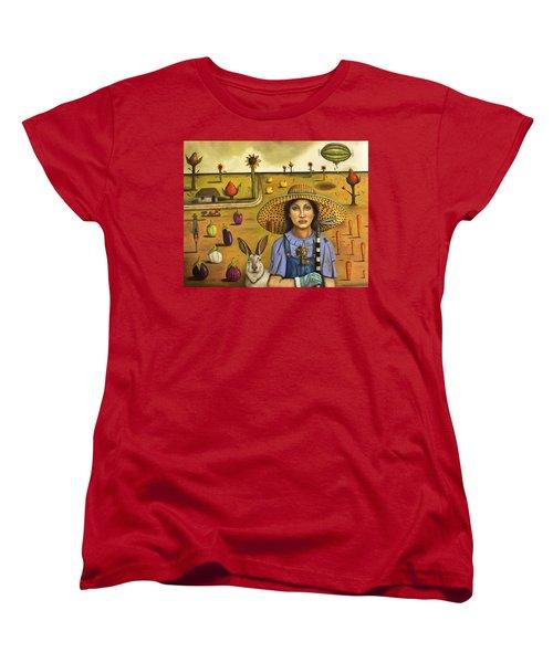 Harvey And The Eccentric Farmer Women's T-Shirt (Standard Cut) by Leah Saulnier The Painting Maniac