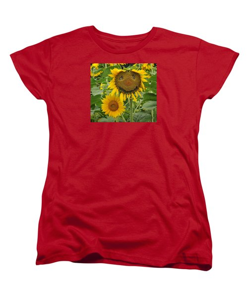 Have A Groovy Day Said The Hippie Flower Women's T-Shirt (Standard Cut) by Joanne Brown