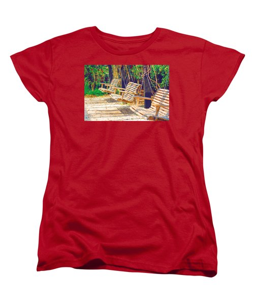Women's T-Shirt (Standard Cut) featuring the photograph Have A Seat Relax by Donna Bentley