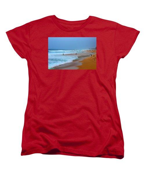 Hawaii - Sunset Beach Women's T-Shirt (Standard Cut) by Michael Rucker