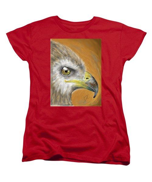 Hawk Women's T-Shirt (Standard Cut) by Darren Cannell