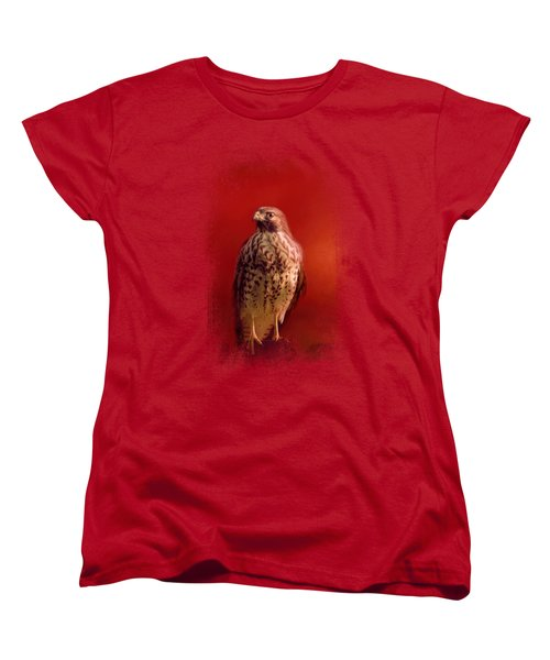 Hawk On A Hot Day Women's T-Shirt (Standard Cut) by Jai Johnson