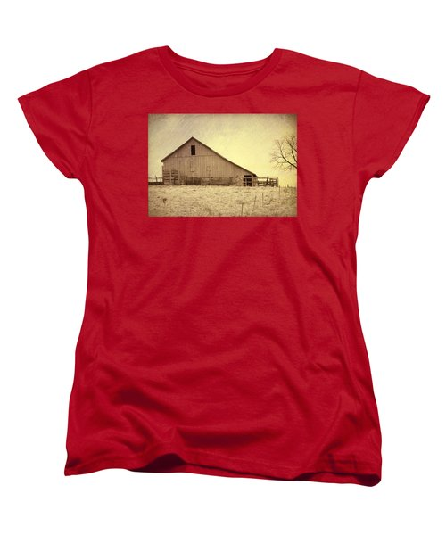 Hay Barn Women's T-Shirt (Standard Cut) by Susan Crossman Buscho