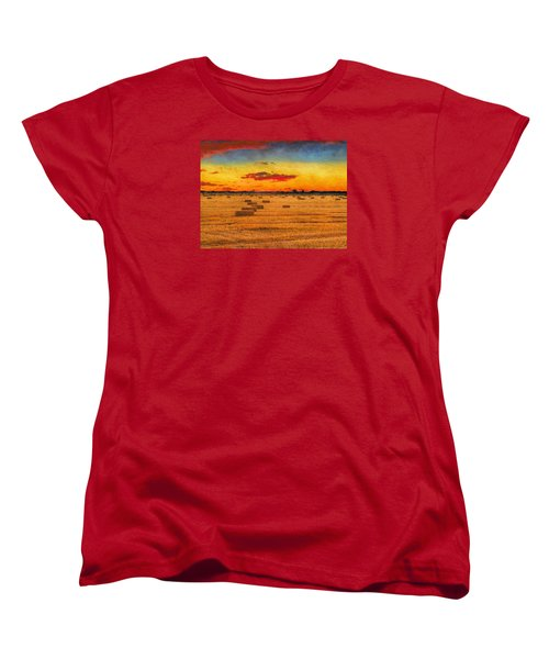 Hay Fields Women's T-Shirt (Standard Cut) by Greg Norrell