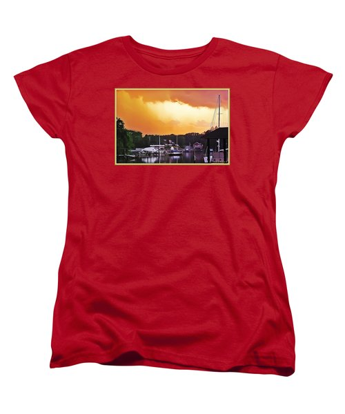 Women's T-Shirt (Standard Cut) featuring the photograph Head For Safety by Brian Wallace