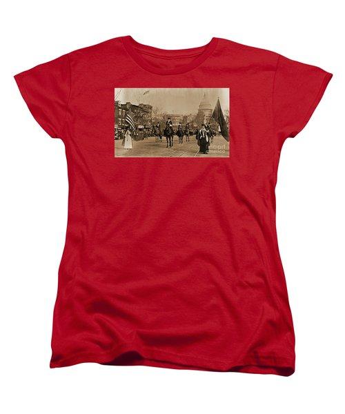 Head Of Washington D.c. Suffrage Parade Women's T-Shirt (Standard Cut) by Padre Art