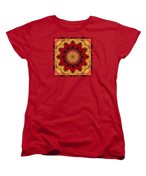Women's T-Shirt (Standard Cut) featuring the photograph Healing Mandala 28 by Bell And Todd