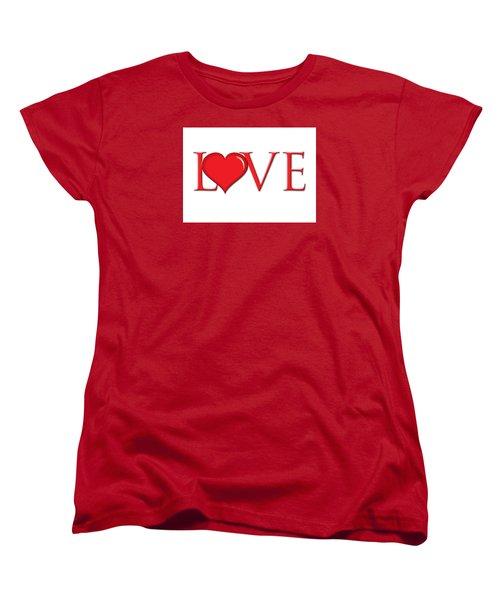 Heart Love Women's T-Shirt (Standard Cut) by Greg Slocum