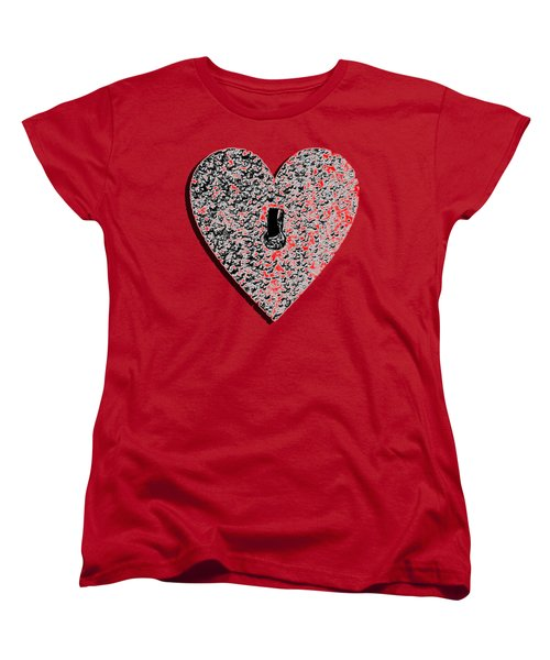 Heart Shaped Lock Red .png Women's T-Shirt (Standard Cut) by Al Powell Photography USA