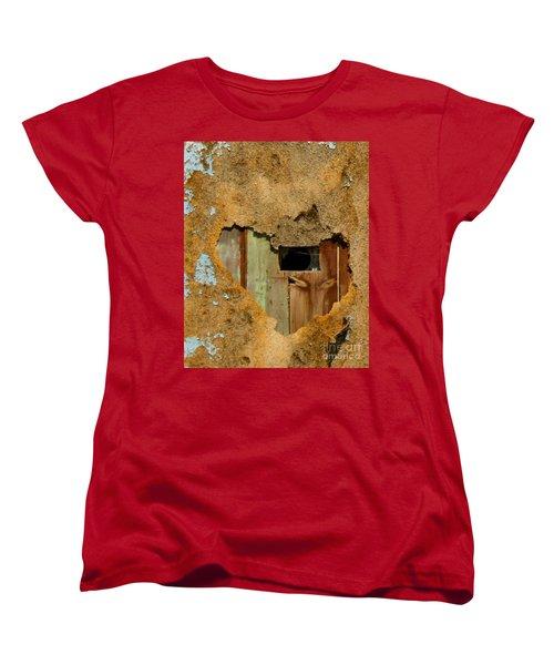 Heart Wall Women's T-Shirt (Standard Cut) by Suzanne Lorenz