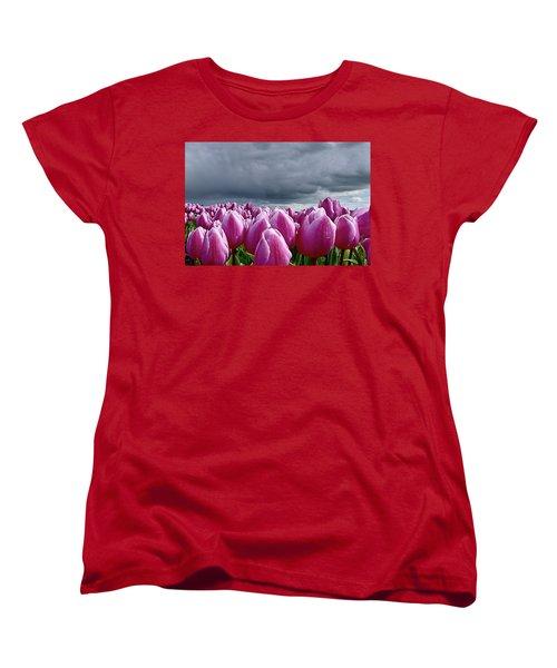 Heavy Clouds Women's T-Shirt (Standard Cut) by Mihaela Pater