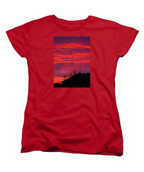 Women's T-Shirt (Standard Cut) featuring the photograph Hell Over Ontario by Valentino Visentini