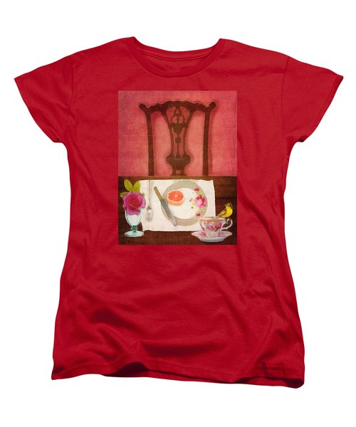 Women's T-Shirt (Standard Cut) featuring the digital art Her Place At The Table by Lisa Noneman