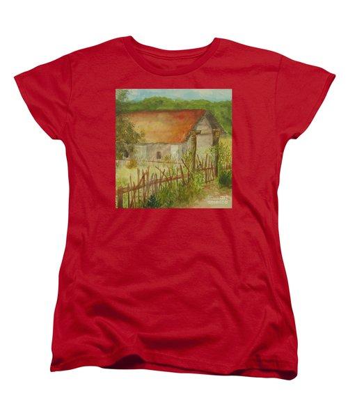 Women's T-Shirt (Standard Cut) featuring the painting Herb Garden by Vicki  Housel