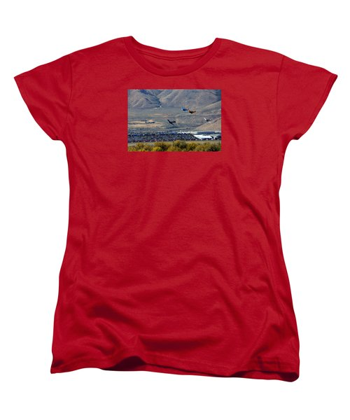 Here's Looking Back At You.  T6 Race. Women's T-Shirt (Standard Cut)