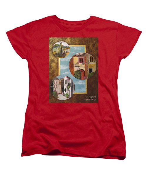 Women's T-Shirt (Standard Cut) featuring the painting Heritage by Judy Via-Wolff