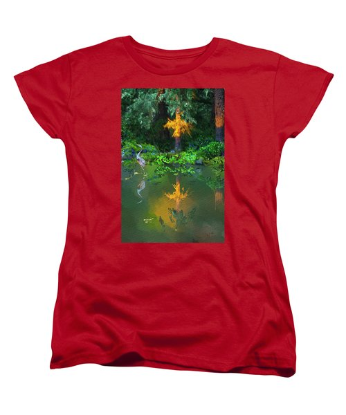 Women's T-Shirt (Standard Cut) featuring the digital art Heron Art by Dale Stillman