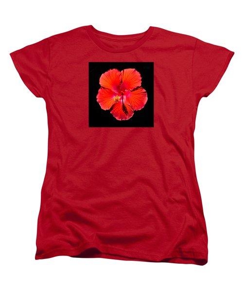 Hibiscus Flower Women's T-Shirt (Standard Cut) by Kenneth Cole