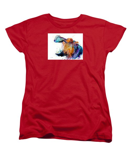 Hippo Women's T-Shirt (Standard Cut) by Slavi Aladjova