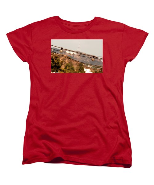 Women's T-Shirt (Standard Cut) featuring the photograph Hollywood Sign On The Hill 2 by Micah May