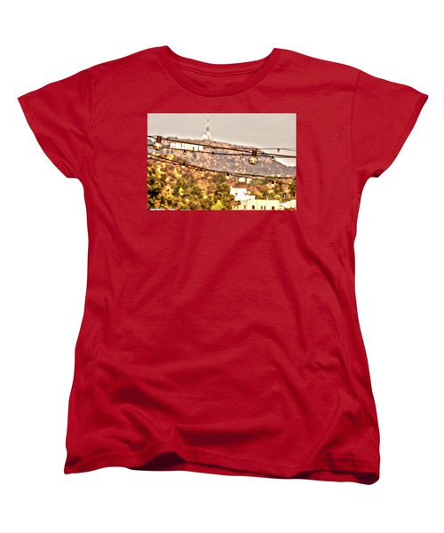 Women's T-Shirt (Standard Cut) featuring the photograph Hollywood Sign On The Hill 6 by Micah May