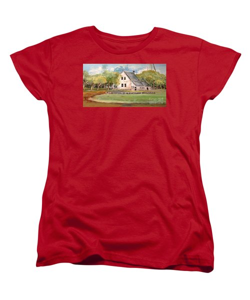 Women's T-Shirt (Standard Cut) featuring the painting Home Again by Linda Shackelford