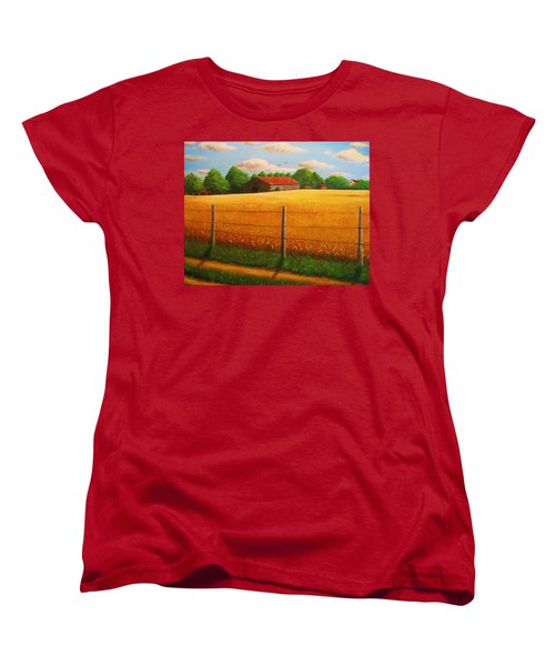 Home On The Farm Women's T-Shirt (Standard Cut) by Gene Gregory