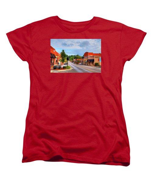 Hometown America Women's T-Shirt (Standard Cut) by Dale R Carlson