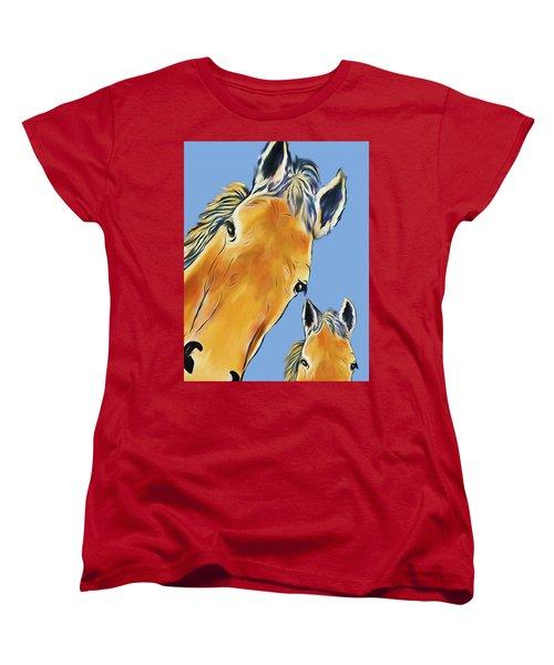 Horse Heads Women's T-Shirt (Standard Cut) by Terry Cork