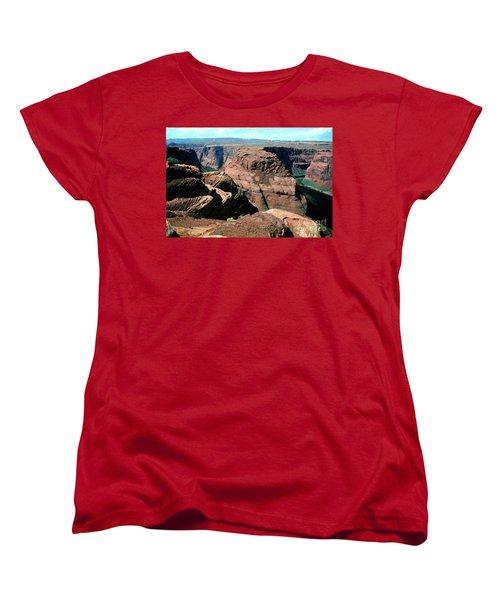 Horseshoe Bend Of The Colorado River Women's T-Shirt (Standard Cut) by Wernher Krutein