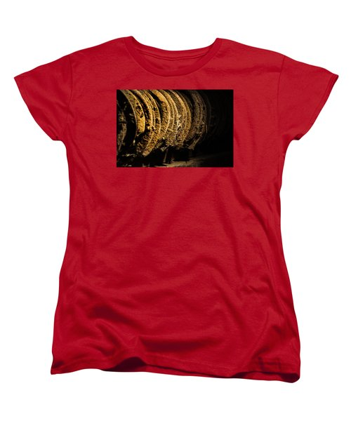 Women's T-Shirt (Standard Cut) featuring the photograph Horseshoes by Jay Stockhaus