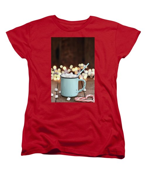 Hot Cocoa With Mini Marshmallows Women's T-Shirt (Standard Cut)